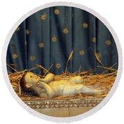 bethlehem - Baby Jesus  Round Beach Towel