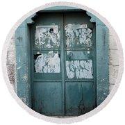 Bethlehem - Blue Door Round Beach Towel