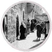 Bethlehem - Hard Working Woman Round Beach Towel