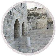Bethlehem - Manger Square Round Beach Towel