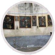 Bethlehem - Nativity Church Paintings Round Beach Towel
