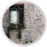 Bethlehem - Nativity Church Window Round Beach Towel