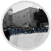 Bethlehem - Nativity Square Round Beach Towel