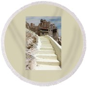 Bethlehem - The Way To Mar Saba Monstary Round Beach Towel