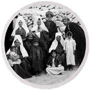 Bethlehem Family In 1900s Round Beach Towel