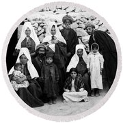 Bethlehem Family In 1900s Round Beach Towel