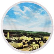 Bethlehem New Day Round Beach Towel