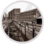 Bethlehem Steel Number Two Machine Shop Round Beach Towel