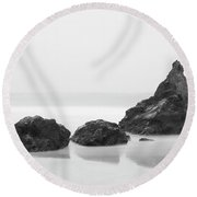 Bethruthan Steps Isolated Round Beach Towel