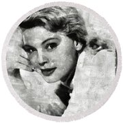 Betsy Palmer Vintage Hollywood Actress Round Beach Towel