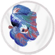 Betta Fish Round Beach Towel