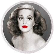Bette Davis Draw Round Beach Towel