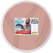 Better Beard Club Round Beach Towel