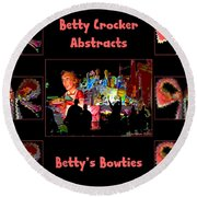 Betty Crocker's Abstracts - Betty's Bowties Round Beach Towel