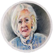 Betty White In Boston Legal Round Beach Towel