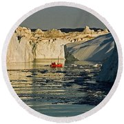 Between Icebergs - Greenland Round Beach Towel