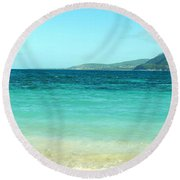 Between Nevis And St Kitts Round Beach Towel