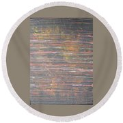 Between The Lines Round Beach Towel
