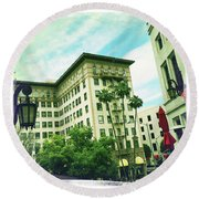 Beverly Hills Rodeo Drive 3 Round Beach Towel