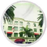 Beverly Hills Rodeo Drive 5 Round Beach Towel