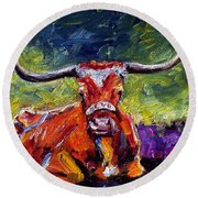 Bevo Round Beach Towel