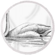 Bewicks Swan Round Beach Towel