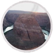 Bend At The River Round Beach Towel