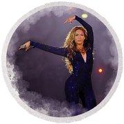 Beyonce #2 Round Beach Towel