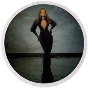 Beyonce - Beautiful Liar  Round Beach Towel