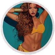 Beyonce 2 Round Beach Towel