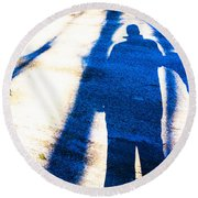 Beyond A Shadow 1 Round Beach Towel
