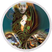 Beyond Masks Round Beach Towel