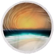 Beyond The Blue Horizon - Series 20 Round Beach Towel