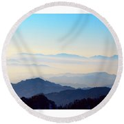 Beyond The Clouds Round Beach Towel