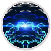Beyond The Dark Clouds And Storms Round Beach Towel