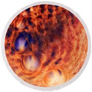 Beyond The Friction  Round Beach Towel
