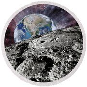 Beyond The Moon Round Beach Towel
