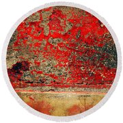Beyond The Peeling Paint Round Beach Towel