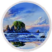 Beyond The Shore Round Beach Towel