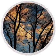 Beyond The Trees Round Beach Towel
