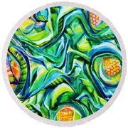 Beyond The Unknown - Right Round Beach Towel
