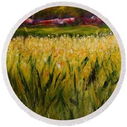 Beyond The Valley Round Beach Towel