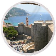 Beyond The Walls Of Old Dubrovnik Round Beach Towel