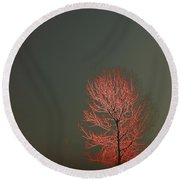 Beyond This Foggy Day Round Beach Towel