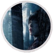 Beyond Two Souls Round Beach Towel