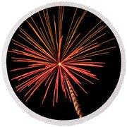 Bi-color Fireworks 2 Round Beach Towel