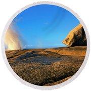 Bicheno Blowhole Round Beach Towel