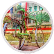 Bicycle Art Round Beach Towel