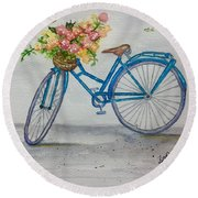 Bicycle I Round Beach Towel