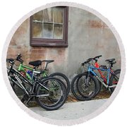 Bicycle Parking Round Beach Towel